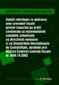 Soluții referitoare la aplicarea unor prevederi legale privind impozitul pe profit, coroborate cu reglementările contabile armonizate cu Directivele europene și cu standardele internaționale de contabilitate prin decizia comisiei centrale fiscale