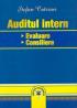 Auditul intern: evaluare, consiliere
