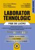 Laborator tehnologic clasa a XI-a si a XII-a - Fise de lucru