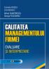 Calitatea managementului firmei: evaluare și interpretare